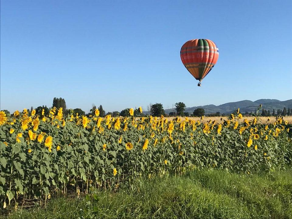 Hot air balloon ride at Assisi Umbria