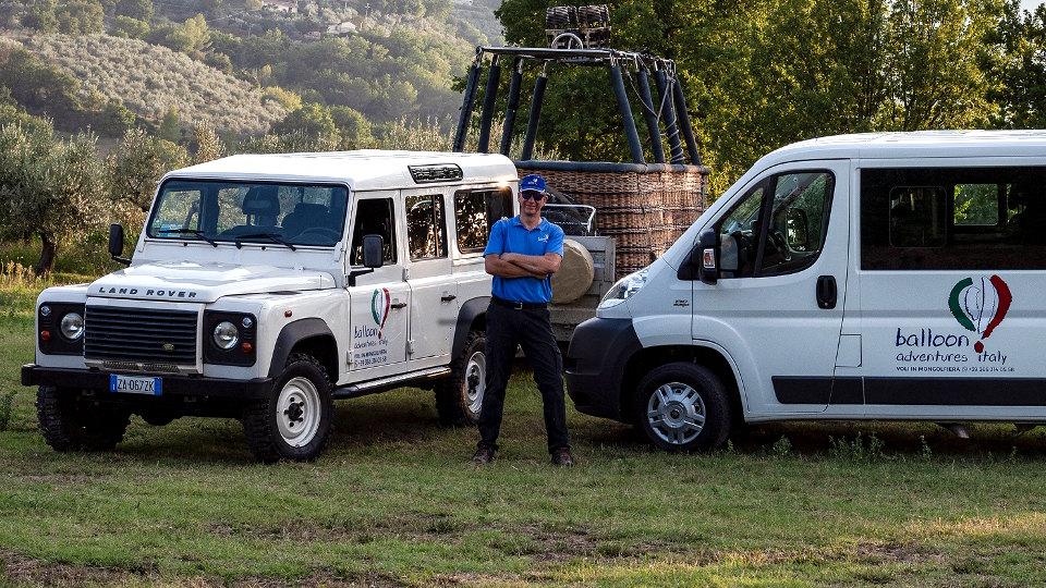 Duncan Harland capo dell'equipaggio Balloon Adventures Italy