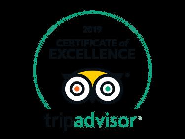 Certificato di Eccellenza di TripAdvisor 2019