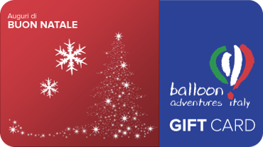 Carta Regalo per Natale di Balloon Adventures Italy