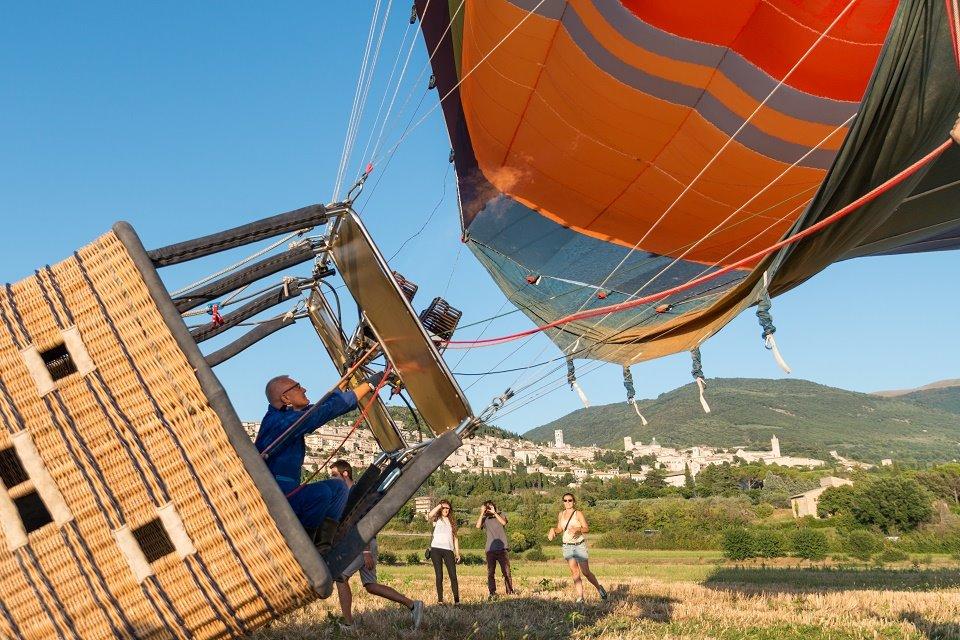 Hot air balloon ride near Rome at Assisi