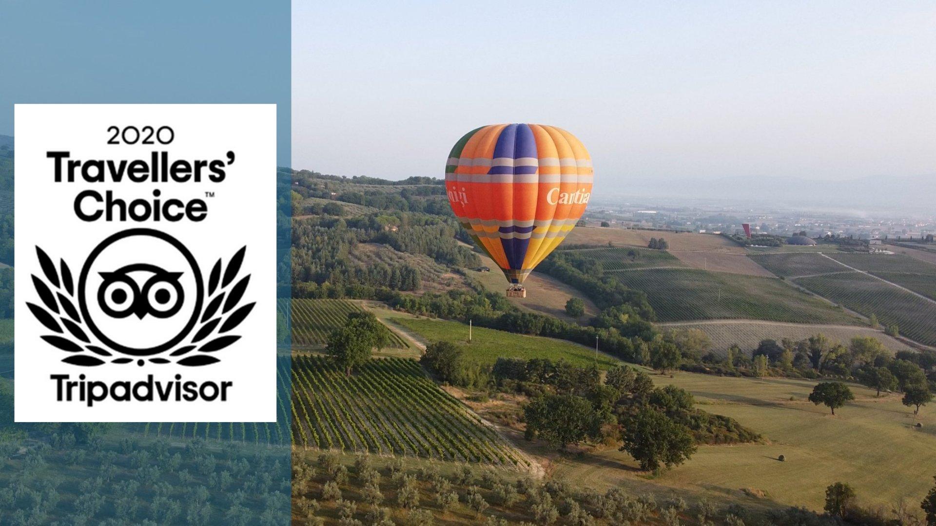 Balloon Adventures Italy ha vinto il Travellers' Choice